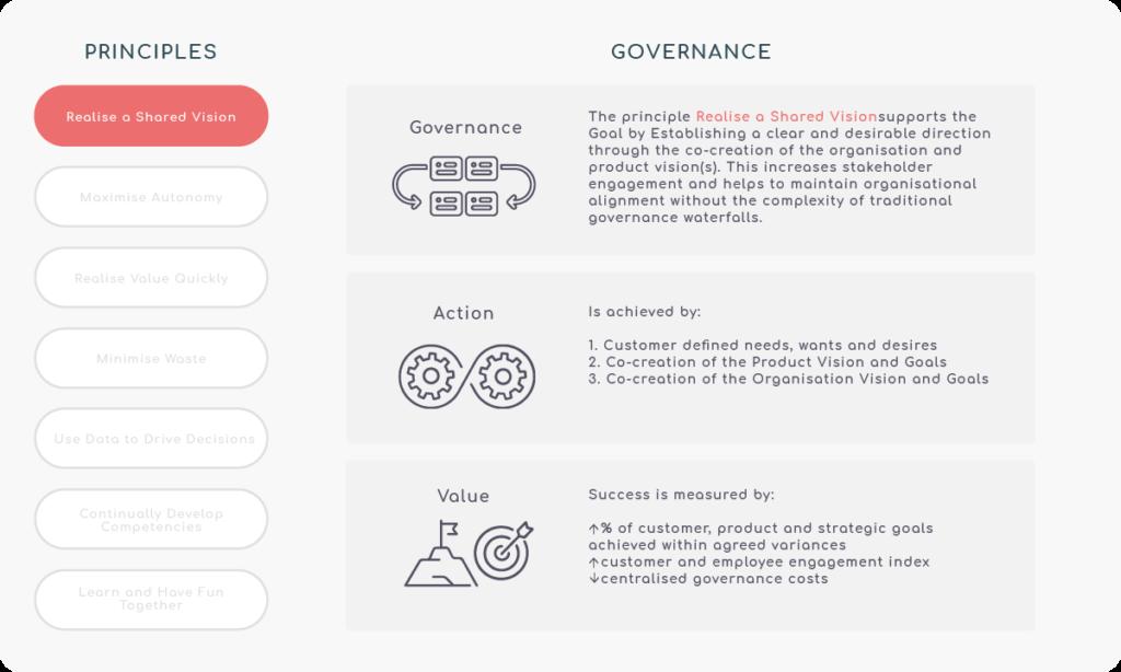 Principle 1 - Realise a shared vision - Governance